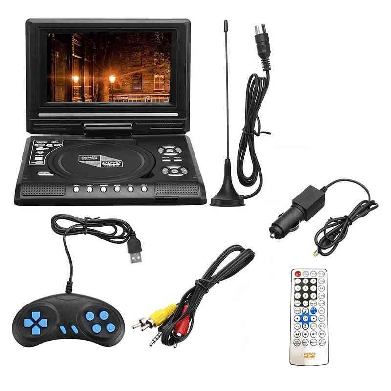7.8 Inch Tv Home Car Dvd Player Portable Hd Vcd Cd Mp3 Hd Dvd Player (black )