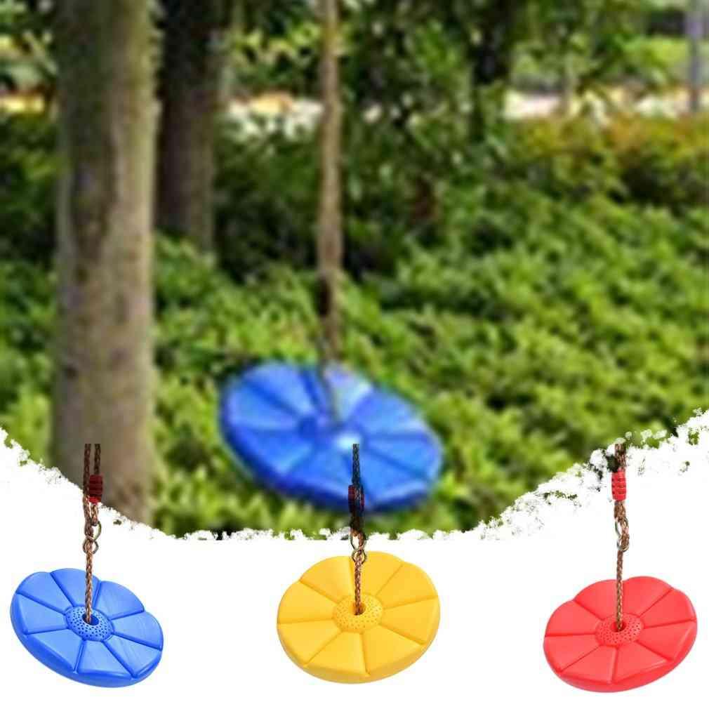 Outdoor / Indoor Plate Swing Monkey Swings Round