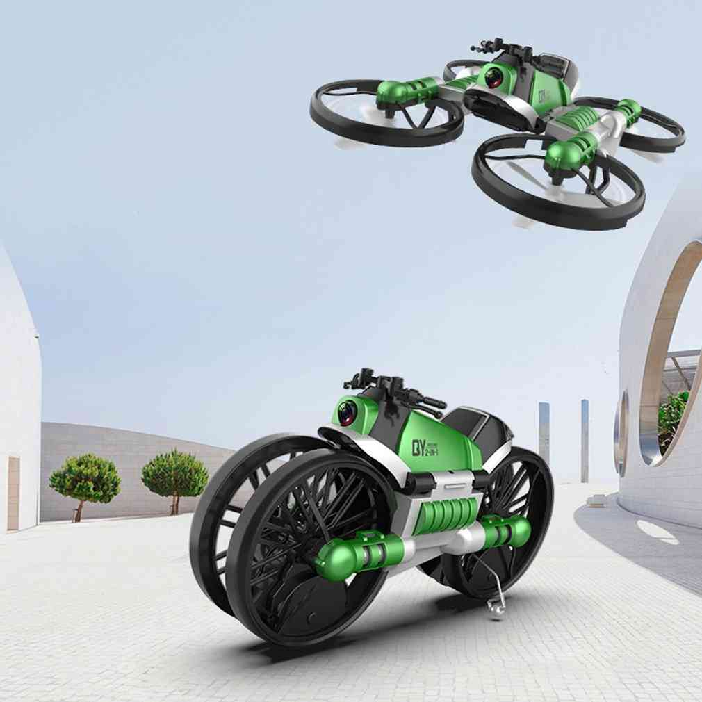 Motorcycle Folding Four-axis Aircraft Toy