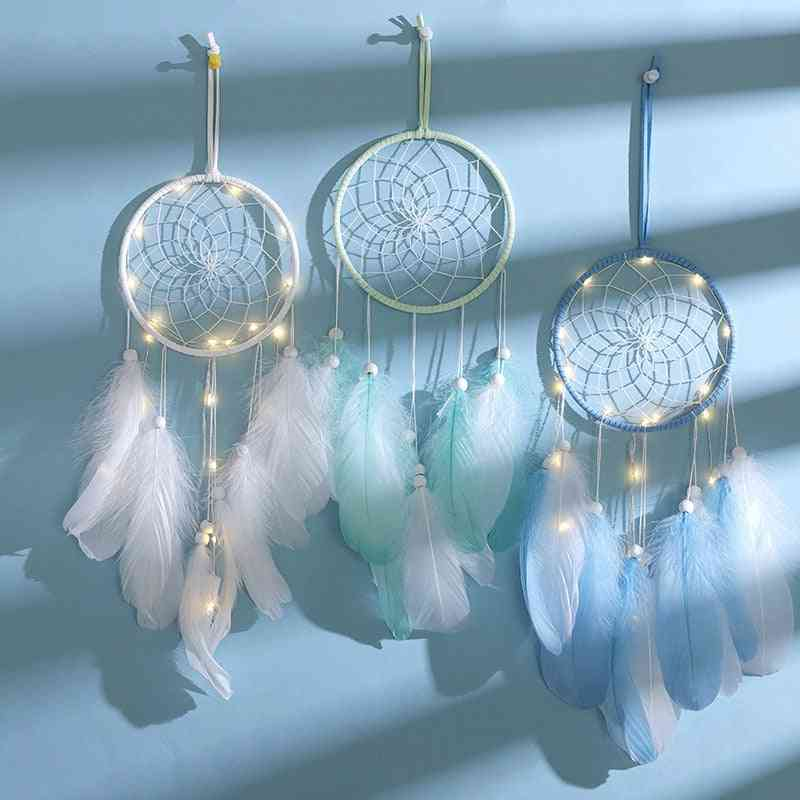Dream Catcher Handmade Feather Wall Hanging Car/home Decoration