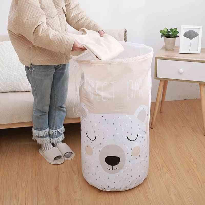 Cartoon Bear Storage Bag, Beam Port Transparent Large Closet Organizer