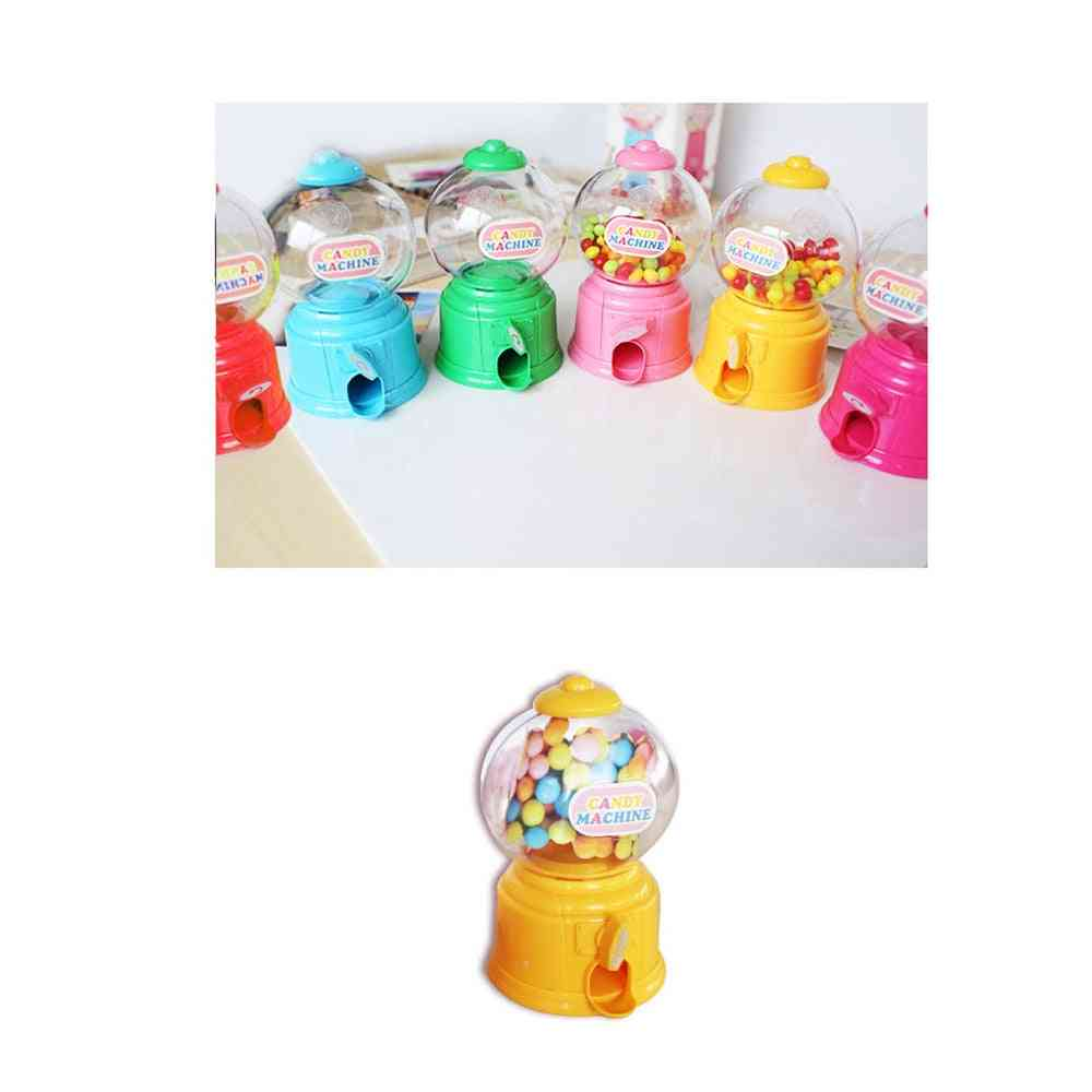 Mini Candy Machine, Bubble Gumball Dispenser Coin Bank Play House