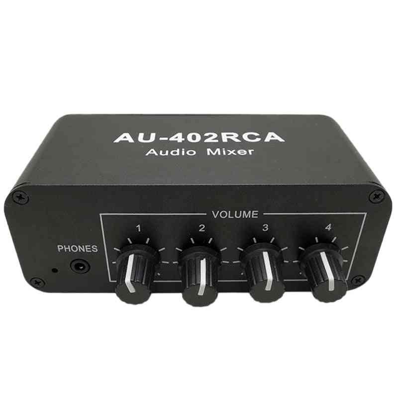 Multi-source Rca Mixer Stereo O Reverberator O Switch Switcher