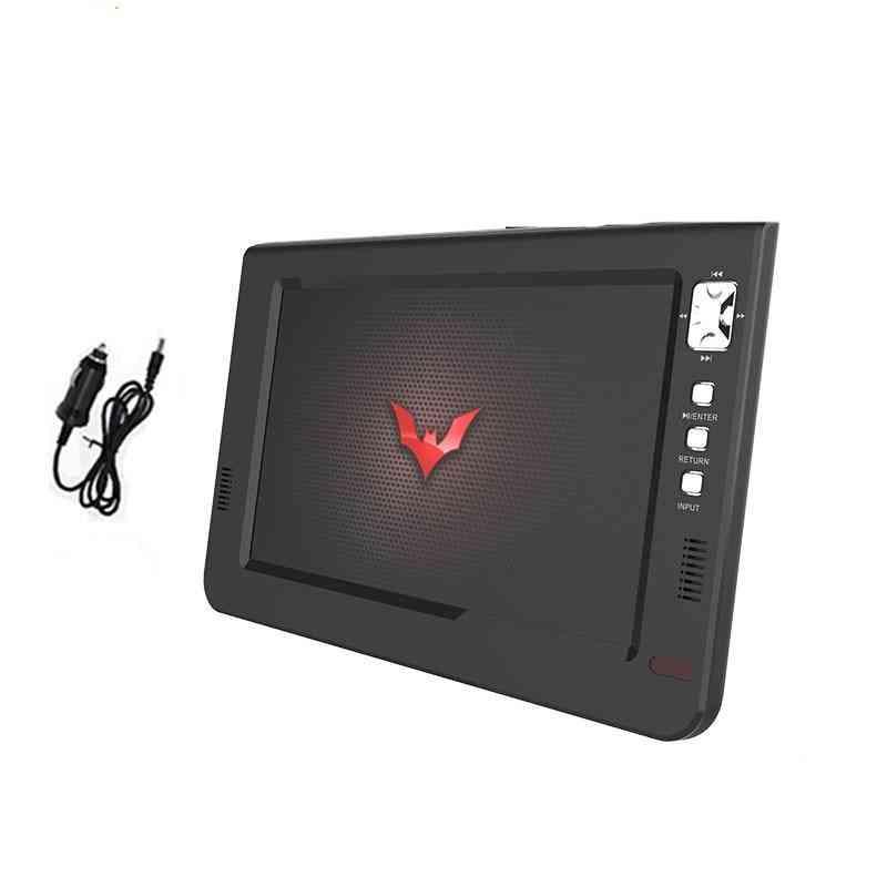 10 Inch Digital Tv Player Mini Led Ac3 Dvb-t T2 Hdmi Usb Tf Analog Atsc Portable Programs Car Charger