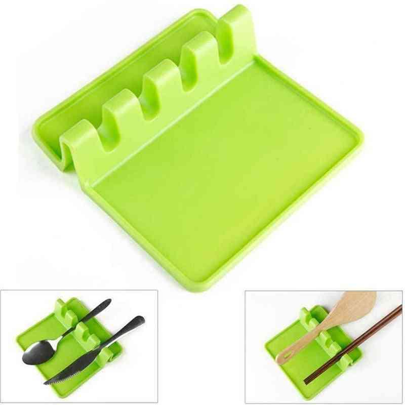 Kitchen Utensil Holder, Silicone Spoon Spatula Durable Rack, Portable, Multipurpose Stand, Large Capacity Shelf