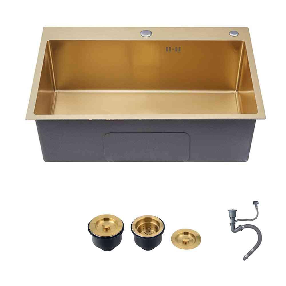 Stainless Steel- Single Bowel, Washing Basin, Kitchen Sink