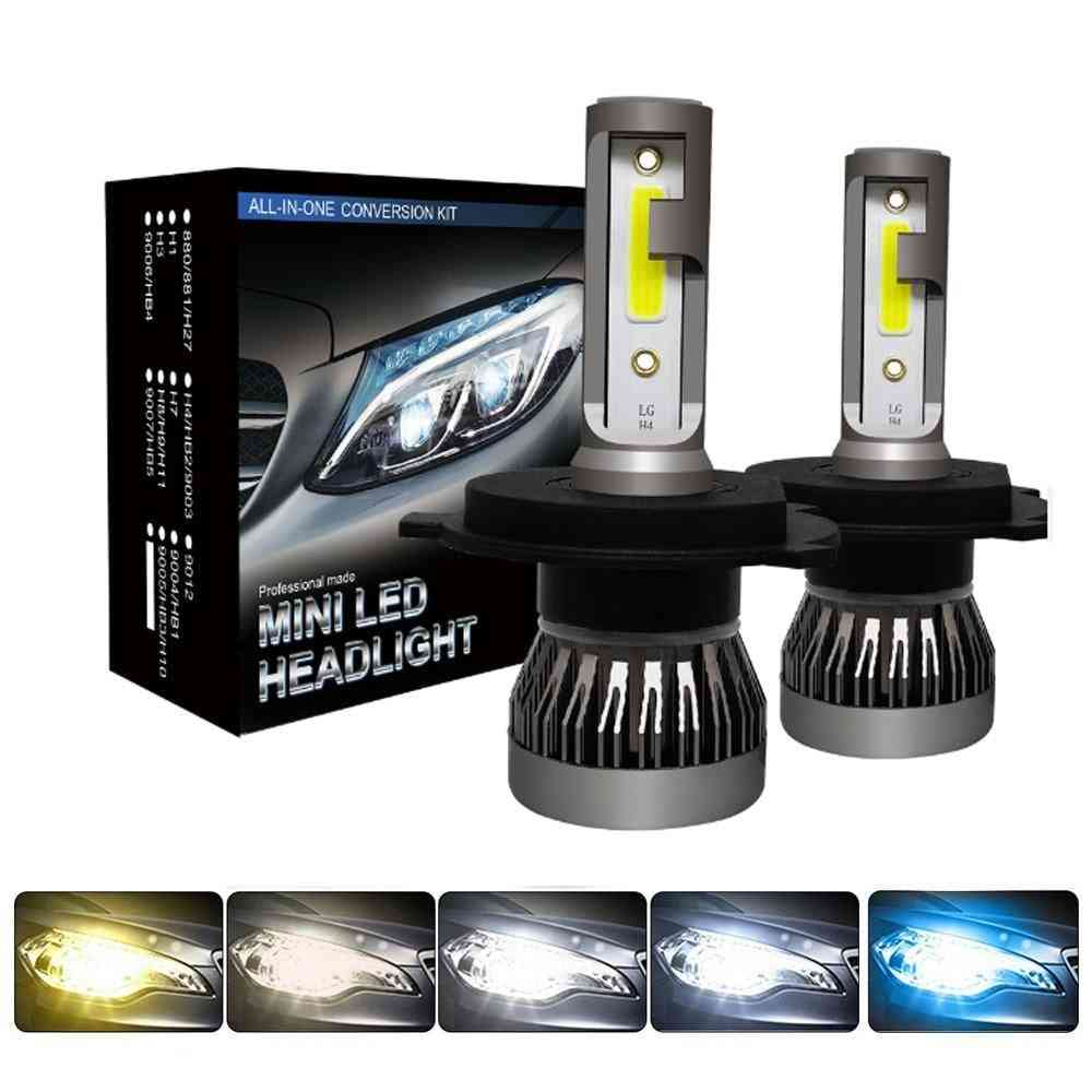 Led 12000lm/pair- Headlight Bulbs, Headlamps Kit For Auto Lamps