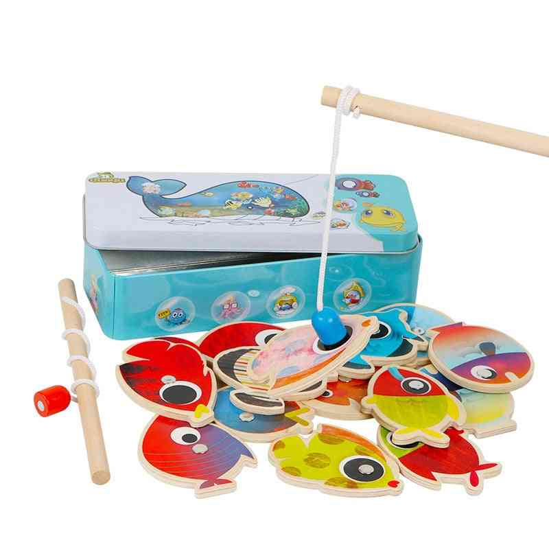 Fishes & Fishing Rods Wooden