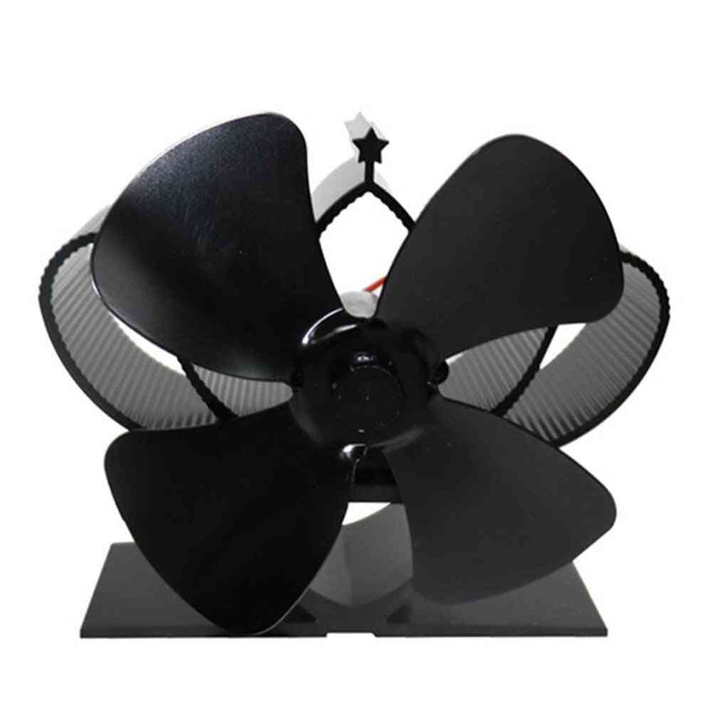 4-blade Fireplace, Thermal Heat Powered, Pellet Stove Fan