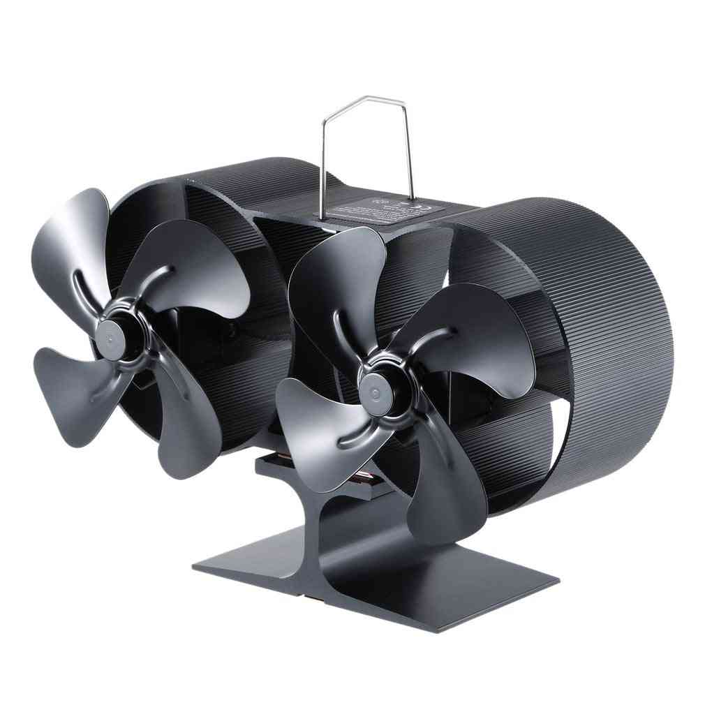 Wood Burning- Real Hot, Thermal Power, Small Fireplace Fan  (black)