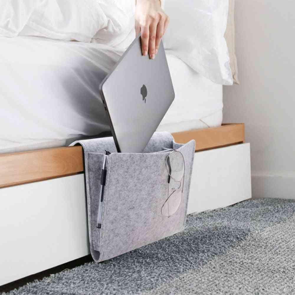 Mobile Phone Remote Control Bedside Hanging Storage Bag