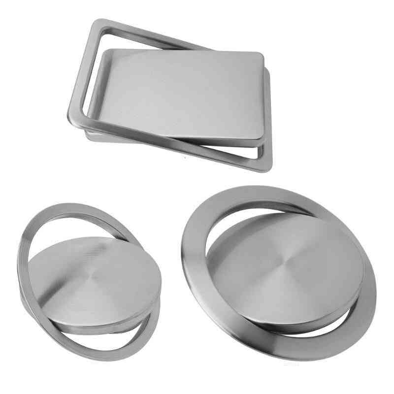 Stainless Steel- Trash Bin Counter, Top Cover