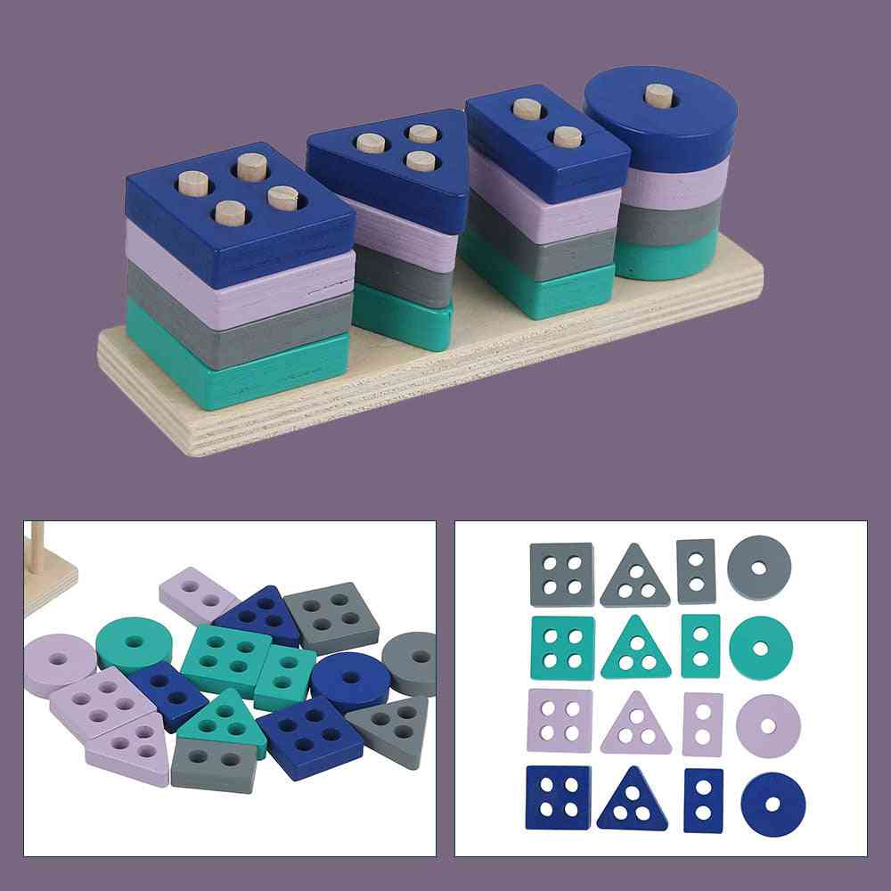 Wooden Early Learning Educational, Montessori Building Block