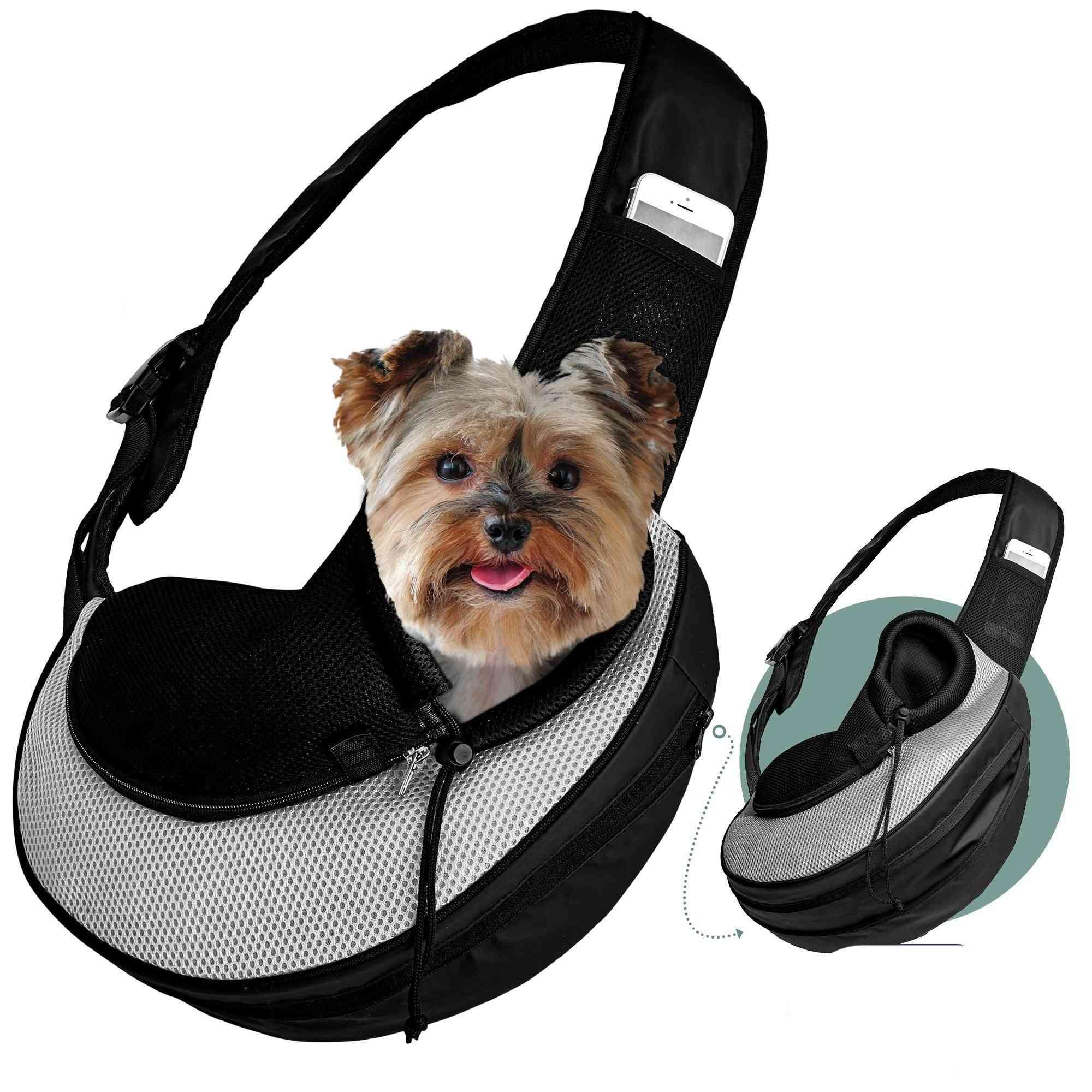 Katziela Pet Carrier Sling Bag Grey