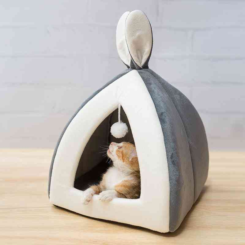 Pet House Bed Indoor Mat Warm Collapsible Cave