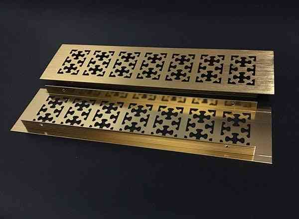 Snowflake Honeycomb Pattern, Rectangle Aluminum - Air Vent Grille Cover