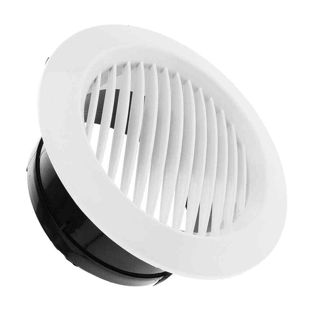 Air Vent Grille Circular Indoor Ventilation Outlet Duct Pipe Cover Cap