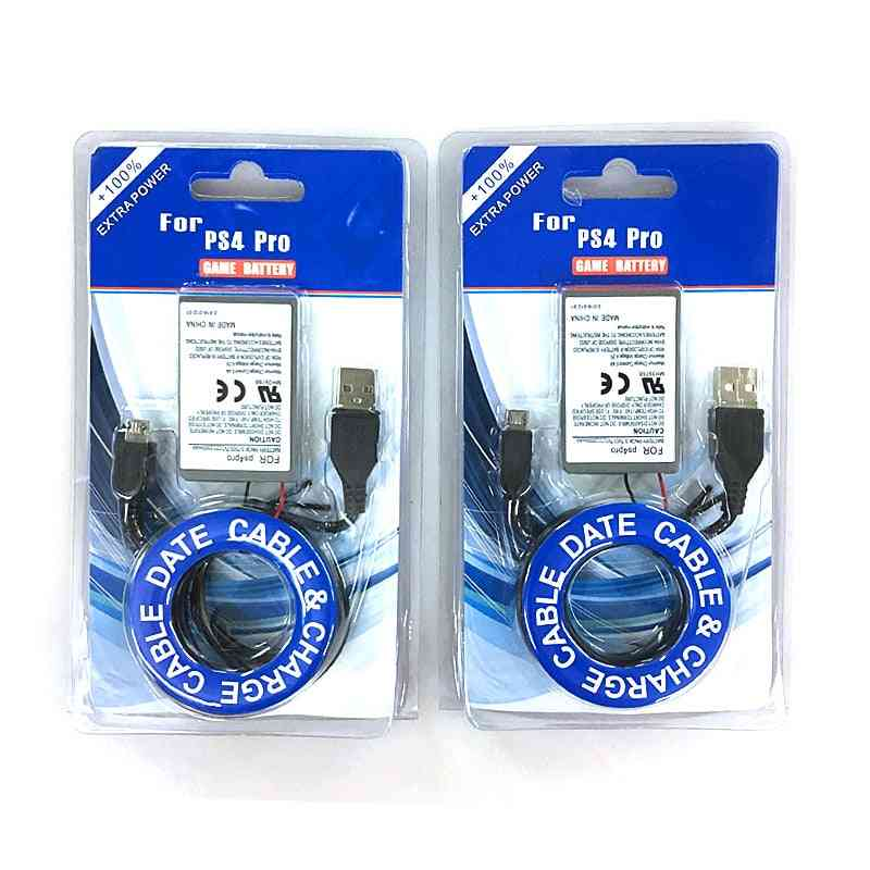 Rechargeable Battery, Usb Charger And Data Cable For Ps4