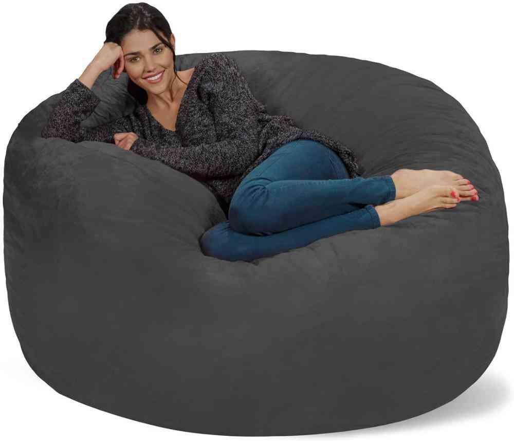 Sack Bean Bag Chair Soft Micro Fiber Cover - Giant Furniture Living Room Big Sofa