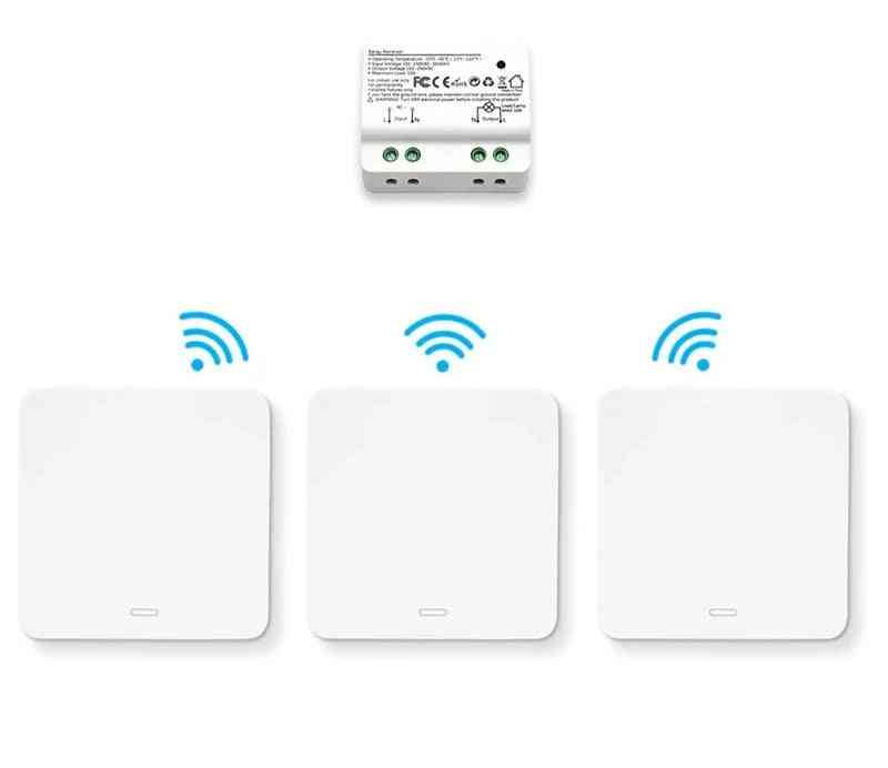Wireless Switch Kinetic Self-powered Wall Switch No Battery Needed Lighting Remote Control