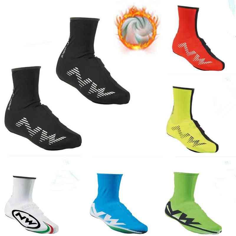 Winter Thermal Cycling Shoe Cover, Sport Men And Women, Bike Shoes, Bicycle, Rain Shoes