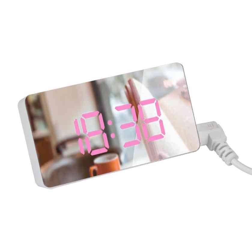 Led Mirror Mini Digital Alarm Clock