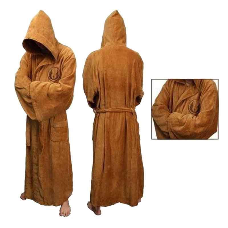 Flannel Robe Men With Hooded Thick Star Wars Dressing Gown