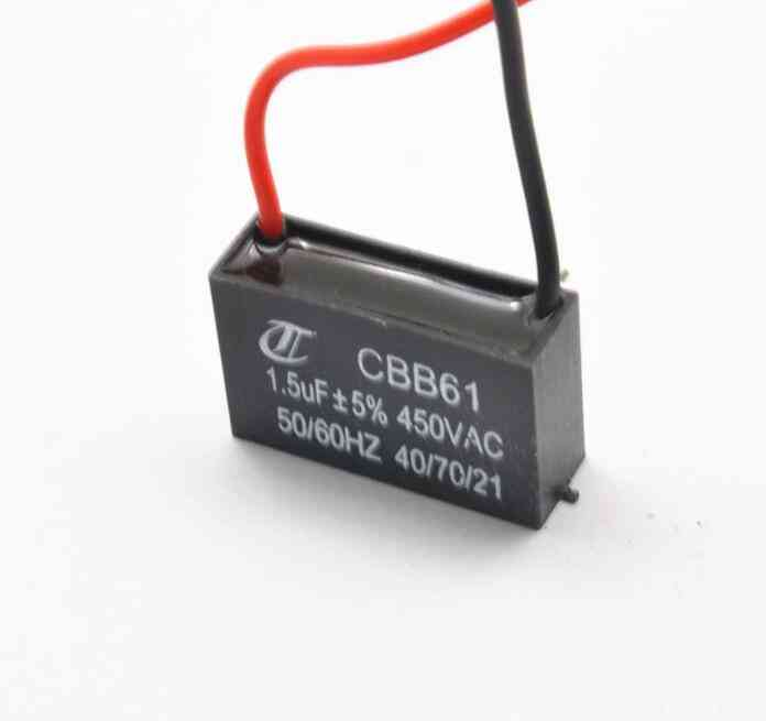 Fan Capacitor Cbb61 1.5uf Starting Capacitor