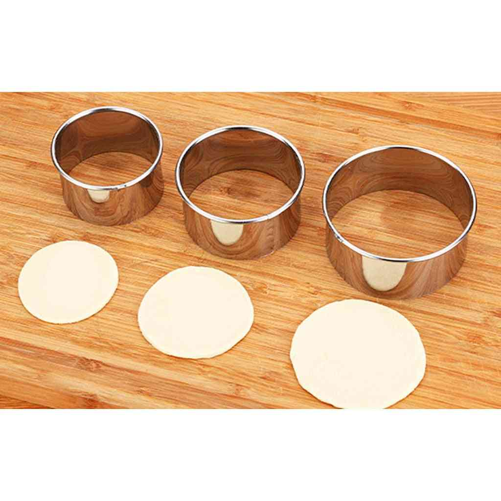 Stainless Steel Round Dumplings Wrappers Mold Set