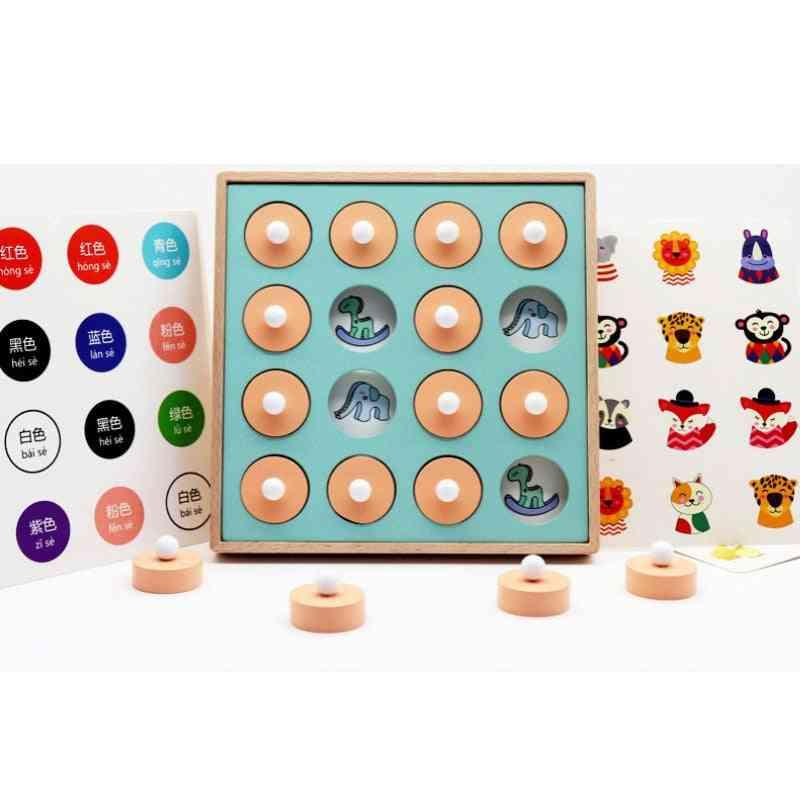 Wooden Memory Match Stick Chess Fun Block Board Game