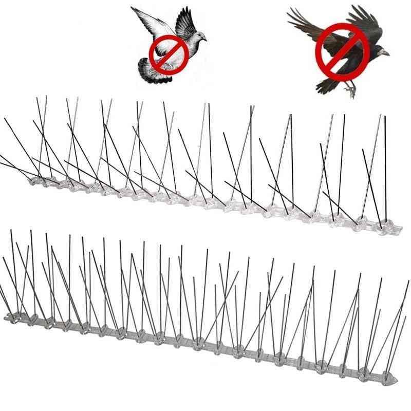 Plastic Repeller Bird Spikes, Deterrent Stainless Steel Spike Strip