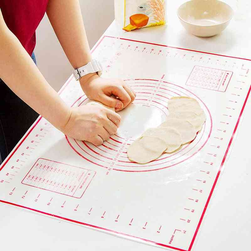 Non-stick Silicone Baking Mat, Pizza Dough Maker Pad, Cooking Tools
