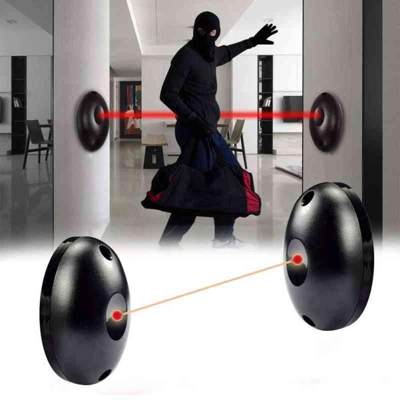 External Positioning Alarm Detector, Infrared Beam Sensor, Barrier For Gates, Door, Windows Protection, Against Hacking Safety System