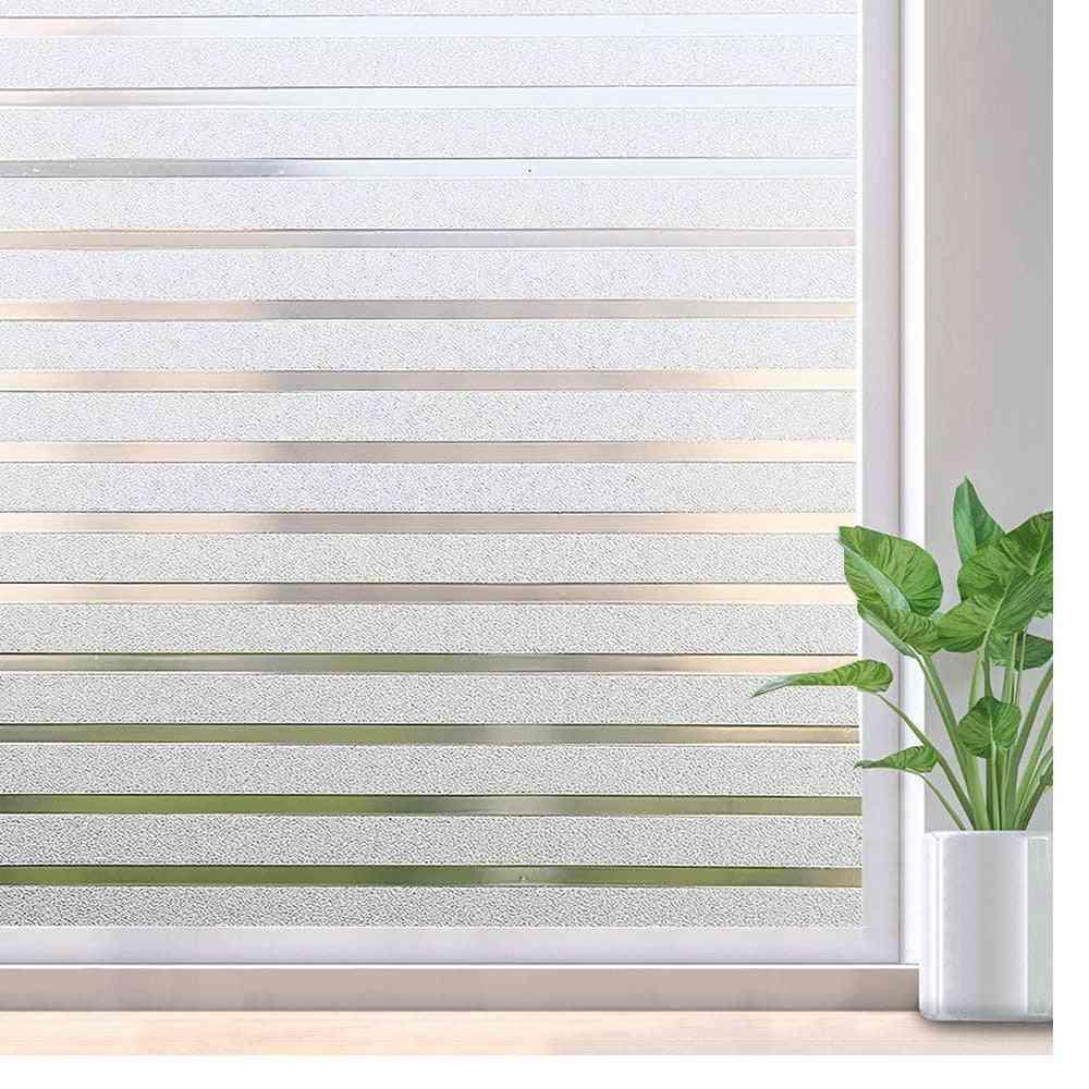 Sticker Striped Window Decal Non-adhesive Privacy Film