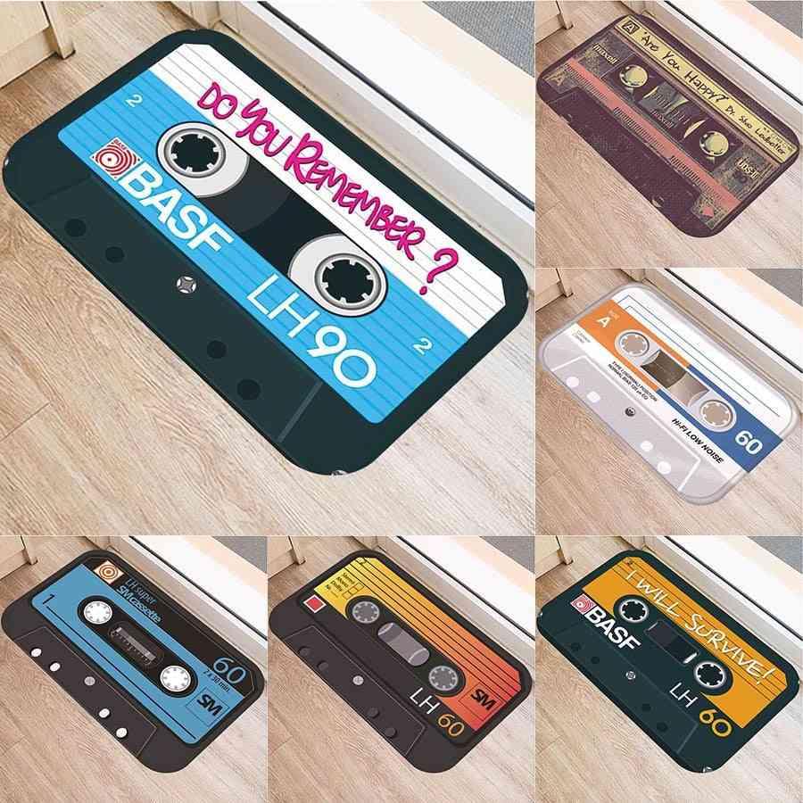 Music Tape Anti-slip Doormat, Vacuuming Kitchen Bedroon Bath Floor Mats