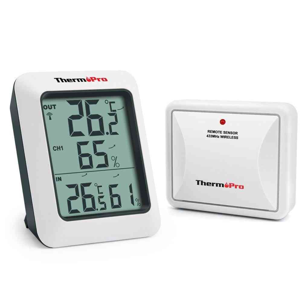 Tp60s- Wireless Digital, Indoor/ Outdoor Thermometer, Monitor With Temperature Humidity Meter