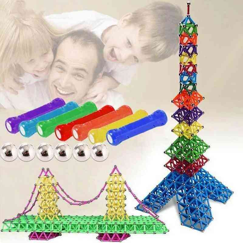 107pcs Magnetic Building Blocks Sticks And Beads