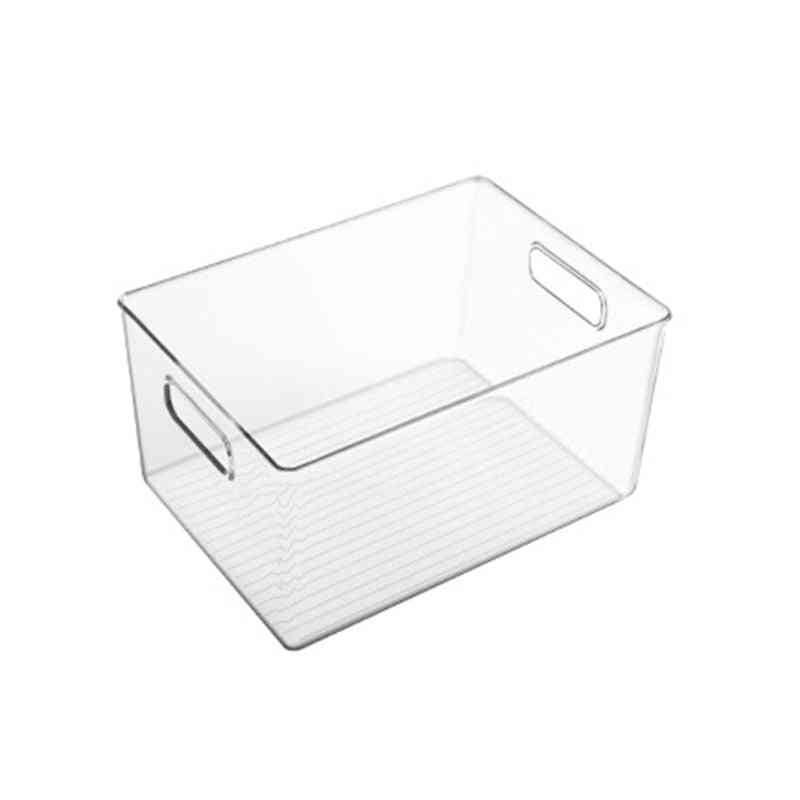 Plastic Food Storage Container With Side Handle Refrigerator Basket