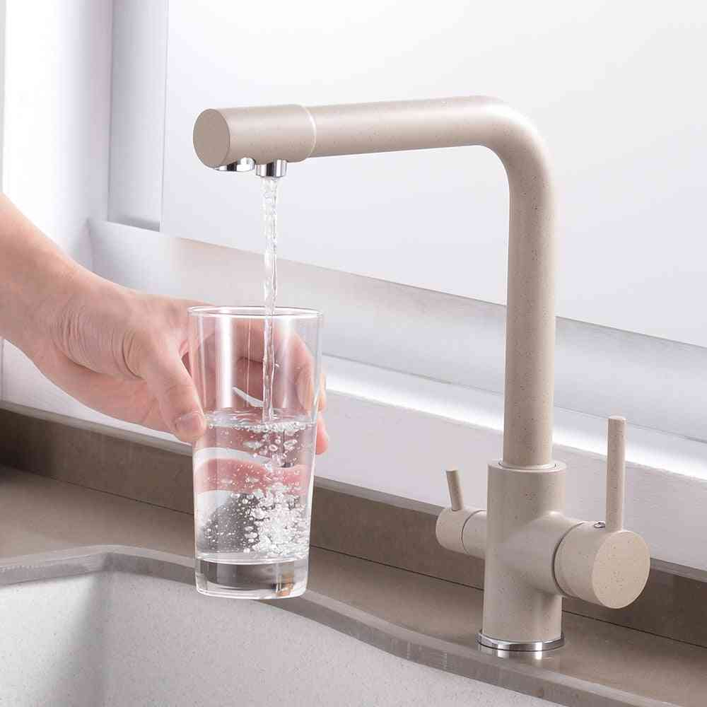 Purifier Faucet Dual Sprayer Drinking Filtered Water Tap