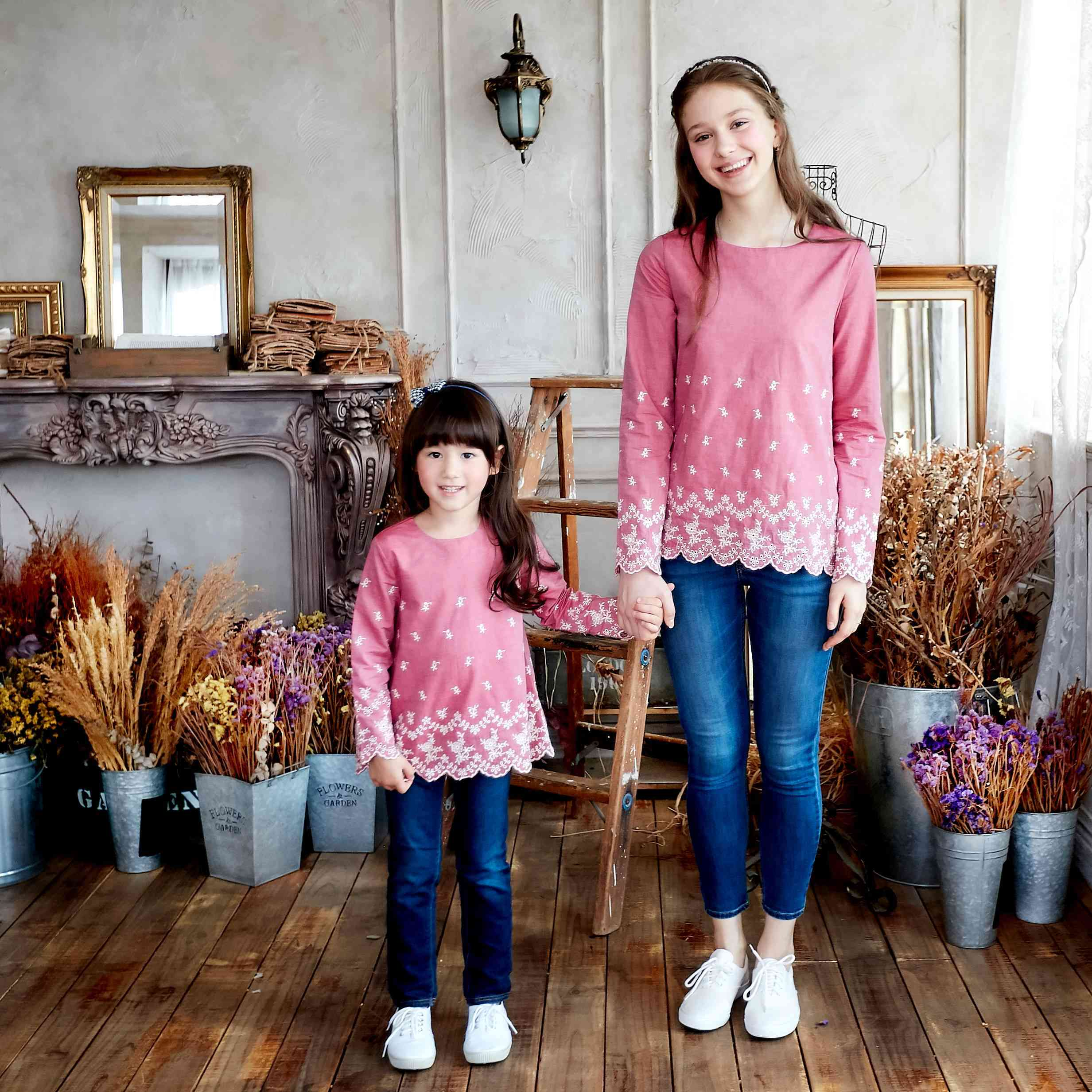 (mommy & Me) Marsala 100% Cotton Scalloped Top