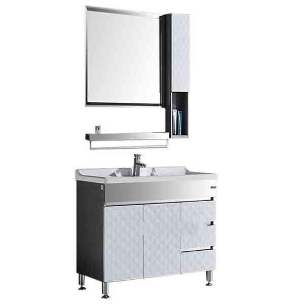 Stainless Steel- Bathroom Marble Countertop, Basin Cabinet