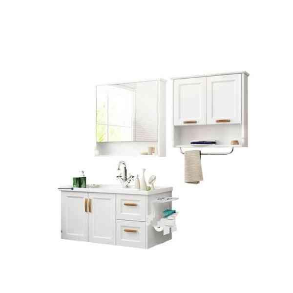 Cabinet Cupboard- Wall Cabinet, Ceramic Washstand Wooden, Toilet Mirror