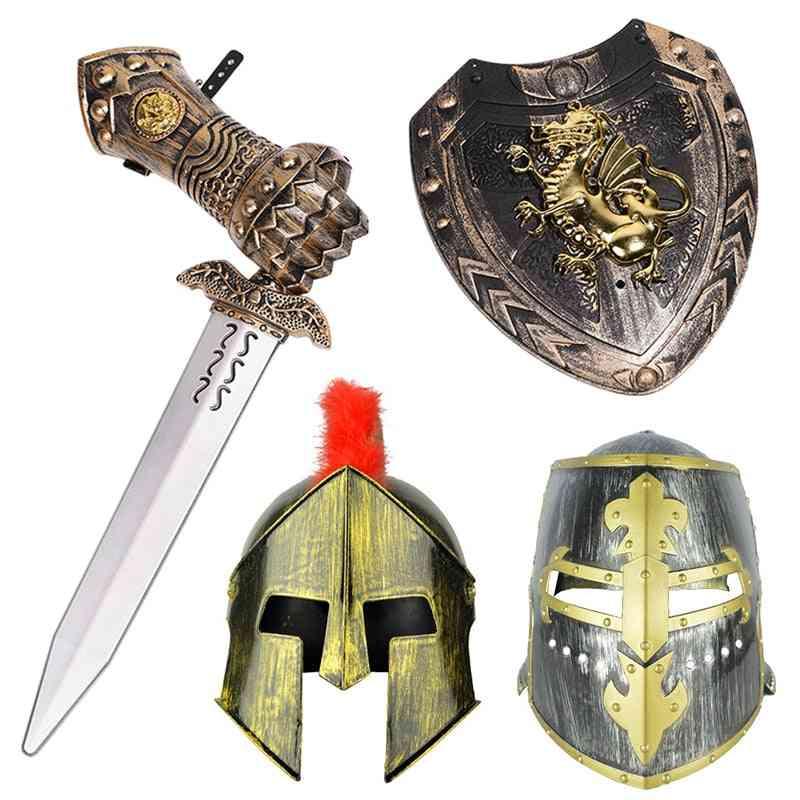 Festive Dress-up Hat, Shield Pretend, Helmet Knight Toy