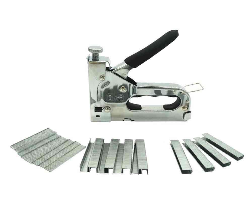 3-way Manual Hand Nail Gun, Furniture Stapler, Tacker Tools