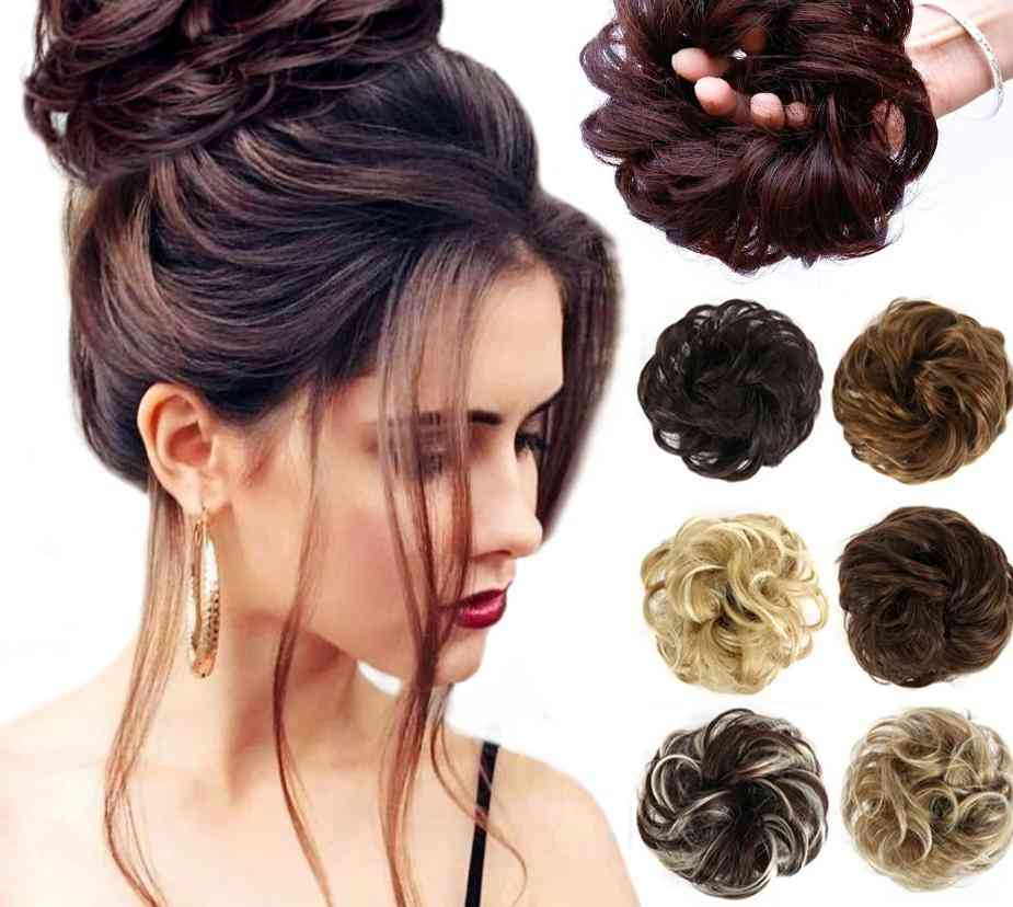 Women's Synthetic Messy Curly Scrunchies Wedding Extensions Hair