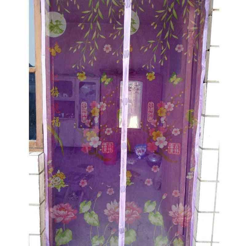Summer Coffee Bug Mesh, Screen Door Curtains, Magnetic Home Net