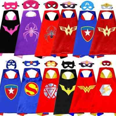 Hero Cartoon Halloween, Cosplay Cloak Cape, Shawl Eye Mask Toy For's