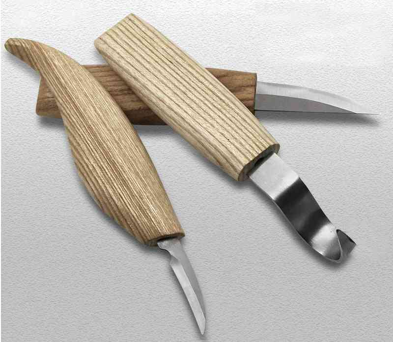 Wood Carving Cutter Hand Tool Set, Chisel Diy Wood Knife Chip Knives