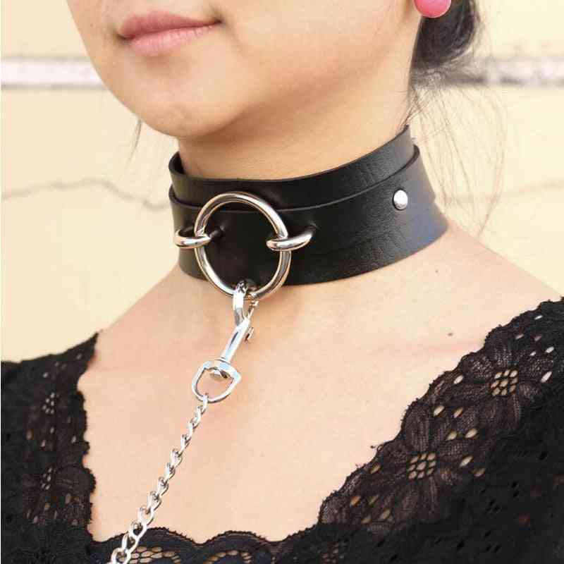 Collar Leather Chokers Necklaces