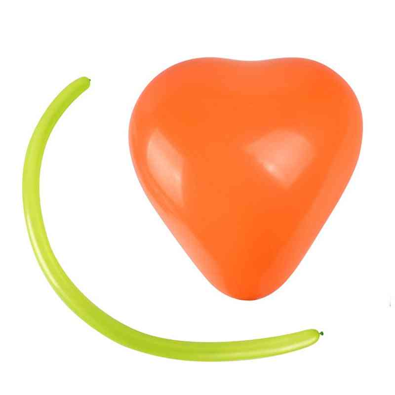 Heart Shape Balloon Set With Small Pump Inflator's Long Strip